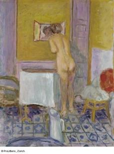 Nu à l'étoffe rouge (Nu à la toilette), 1915 © ProLitteris