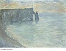Les falaises d'Aval avec la Porte et l'Aiguille, Claude Monet, 1884 © Kunstmuseum Basel