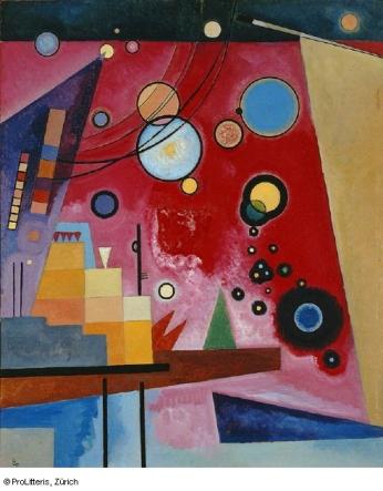 Wassily Kandinsky, Schweres Rot, 1924 © ProLitteris