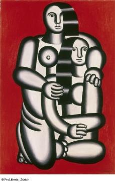 Fernand Léger Les deux figures (Nus sur fond rouge), 1923 © ProLitteris