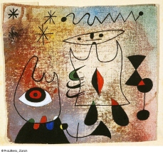 Joan Miró Personnages dans la nuit, 1944 © ProLitteris
