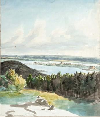 Paysage près de Tavastehus (Hämeenlinna), Finlande, 1811